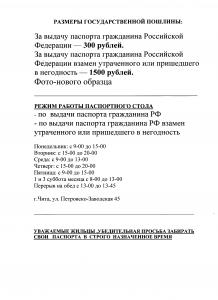 пошлина паспорт РФ